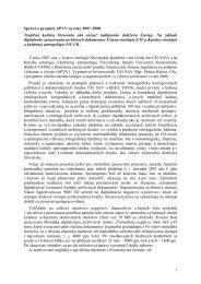 Správa o projekte APVV za roky 2007–2008 Tradičná kultúra ...