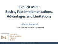 Explicit MPC: Basics, Fast Implementations, Advantages and ...