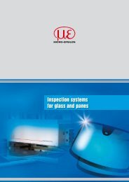 Inspection systems for glass and panes (PDF, 337 KB) - Micro-Epsilon