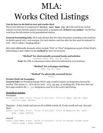 mla works cited website example