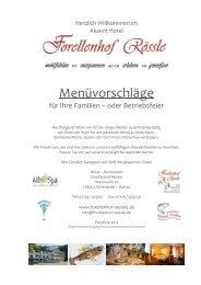 Menü 2 Feinschmecker - Buffet - Hotel Restaurant Forellenhof Rössle