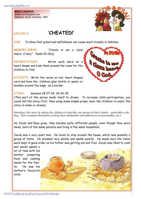 Cheated Free Bible Lessons Home