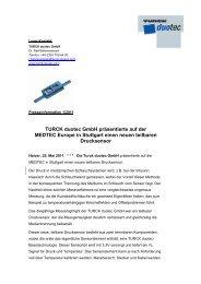 TURCK duotec GmbH präsentierte auf der MEDTEC Europe in ...