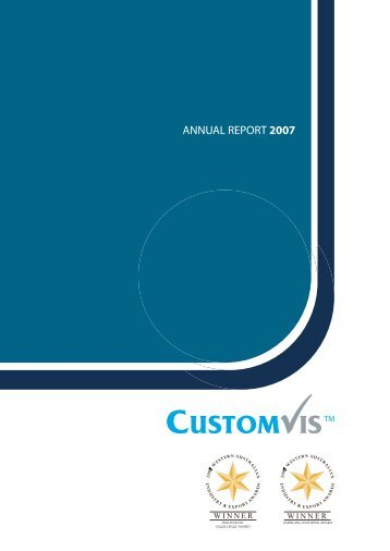 ANNUAL REPORT 2007 - CustomVis