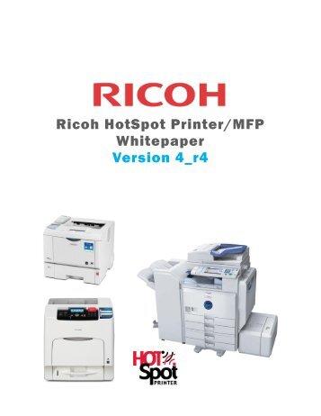 Ricoh Aficio MP C3002G Printer PCL6 Uni New