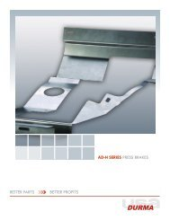 AD-H SERIES PRESS BRAKES BETTER PARTS BETTER ... - Durma