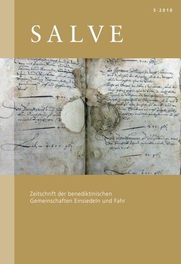 Der Kampf gegen Schmutz und Schimmel - Klosterarchiv Einsiedeln