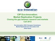 CIP Eco-Innovation: Market Replication Projects