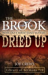 The Brook Dried Up—Why Do Christians Suffer? - A New You Ministry