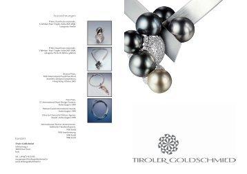 Auszeichnungen Kontakt - Tiroler Goldschmied