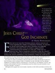 Jesus Christ—God Incarnate - Plain Truth Ministries