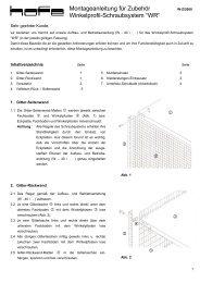 Zubehör Schraubsystem WR - Fachbodenregale