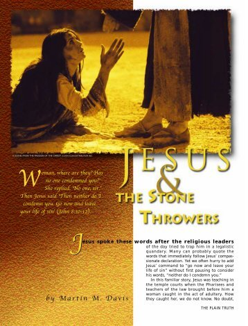Jesus and the Stone Throwers - Plain Truth Ministries