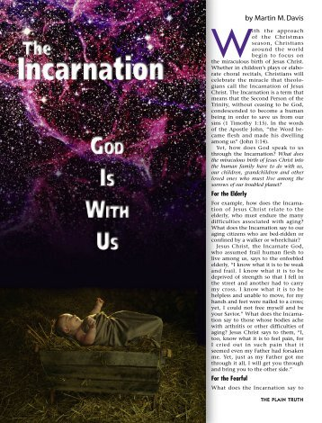 Incarnation - Plain Truth Ministries