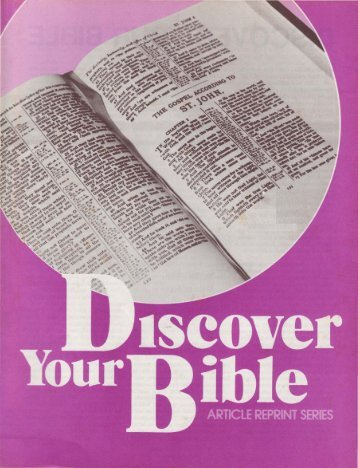 Discover Your Bible - Church of God - NEO