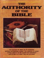 Authority of the Bible - Church of God - NEO