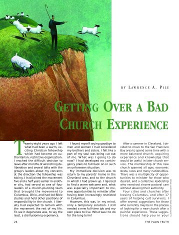 getting over a bad church experience - Plain Truth Ministries