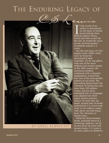 The Enduring Legacy of C.S. Lewis - Plain Truth Ministries