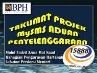 taklimat mysms.pdf - Bahagian Pengurusan Hartanah, Jabatan ...