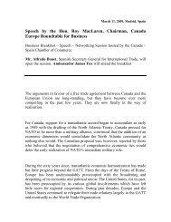 Roy MacLaren speech on Canada-EU free trade to the Spain ...