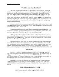 7 Biblical Ingredients for FAITH - NetBibleStudy.com