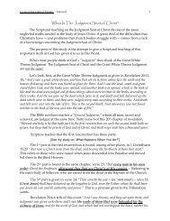 Living in the Light of Eternity - LESSON 8 - NetBibleStudy.com
