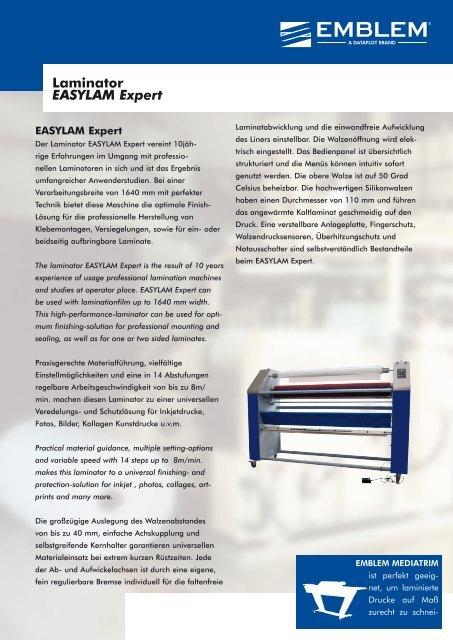 Laminator EASYLAM Expert - sign & supply
