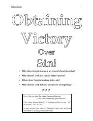 How To Obtain The victory Over Sin - NetBibleStudy.com