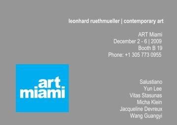 leonhard ruethmueller | contemporary art ART Miami December 2 ...