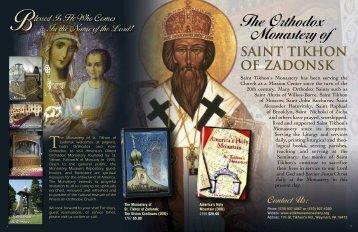 New Monastery Bookstore Catalog - The Monastery of St. Tikhon of ...