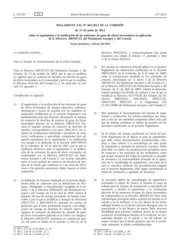 Reglamento (UE) no 601/2012 de la Comisión, de 21 de ... - EUR-Lex