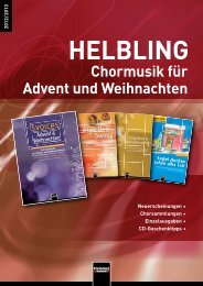 Weitere Probeseiten auf www.helblingchor.com - Helbling Verlag