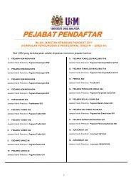 Kumpulan Pengurusan dan Profesional - Jabatan Pendaftar