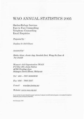 2005 - Women's Aid Organisation