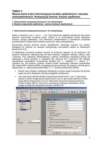 TEMAT 2 Wzmacnianie treści informacyjnej kanałów spektralnych i ...