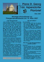 Pfarre St. Georg 166. Aspersdorfer Pfarrbrief - Pfarre Aspersdorf