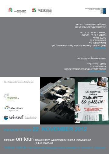 Programm 22.11.2012 - Brancheninitiative Gesundheitswirtschaft ...