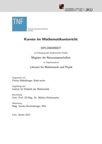 Kurven im Mathematikunterricht - idmthemen