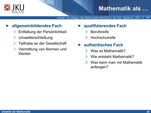 Einführung in die Didaktik der Mathematik - idmthemen - PBworks