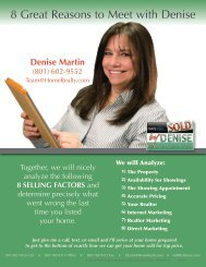 8 Great Reasons to Meet with Denise