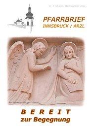 Ausgabe Nr4 2011 - Pfarrgemeinde Innsbruck-Arzl