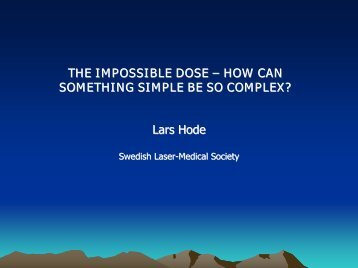 The impossible dose