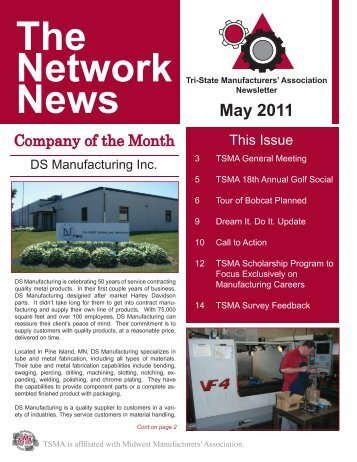 May 2011 - TSMA - Tri-State Manufacturers' Association