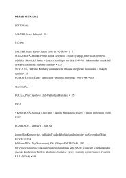 OBSAH 60/SN2/2012 EDITORIAL SALNER, Peter: Editorial • 115 ...