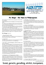 Pro Buerger Broschuere - Pro Bürger