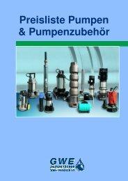 Preisliste Pumpen