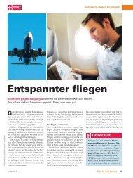 Stiftung Warentest - Flugangst