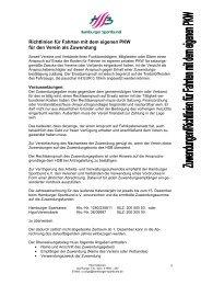 Richtlinien PKW - Hamburger Sportbund e.V.