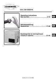 газовые горелки C24-30GX507. Инструкция по монтажу
