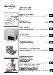газовые горелки C24-30GX107-207. Технический паспорт